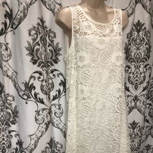 Dress Barn Size XL White Lace Sundress